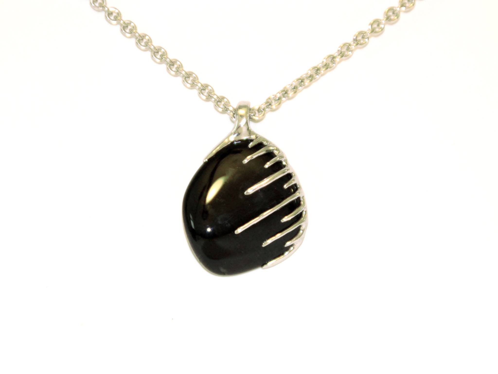 black rain- sold (onyx, silver, stainless steel)