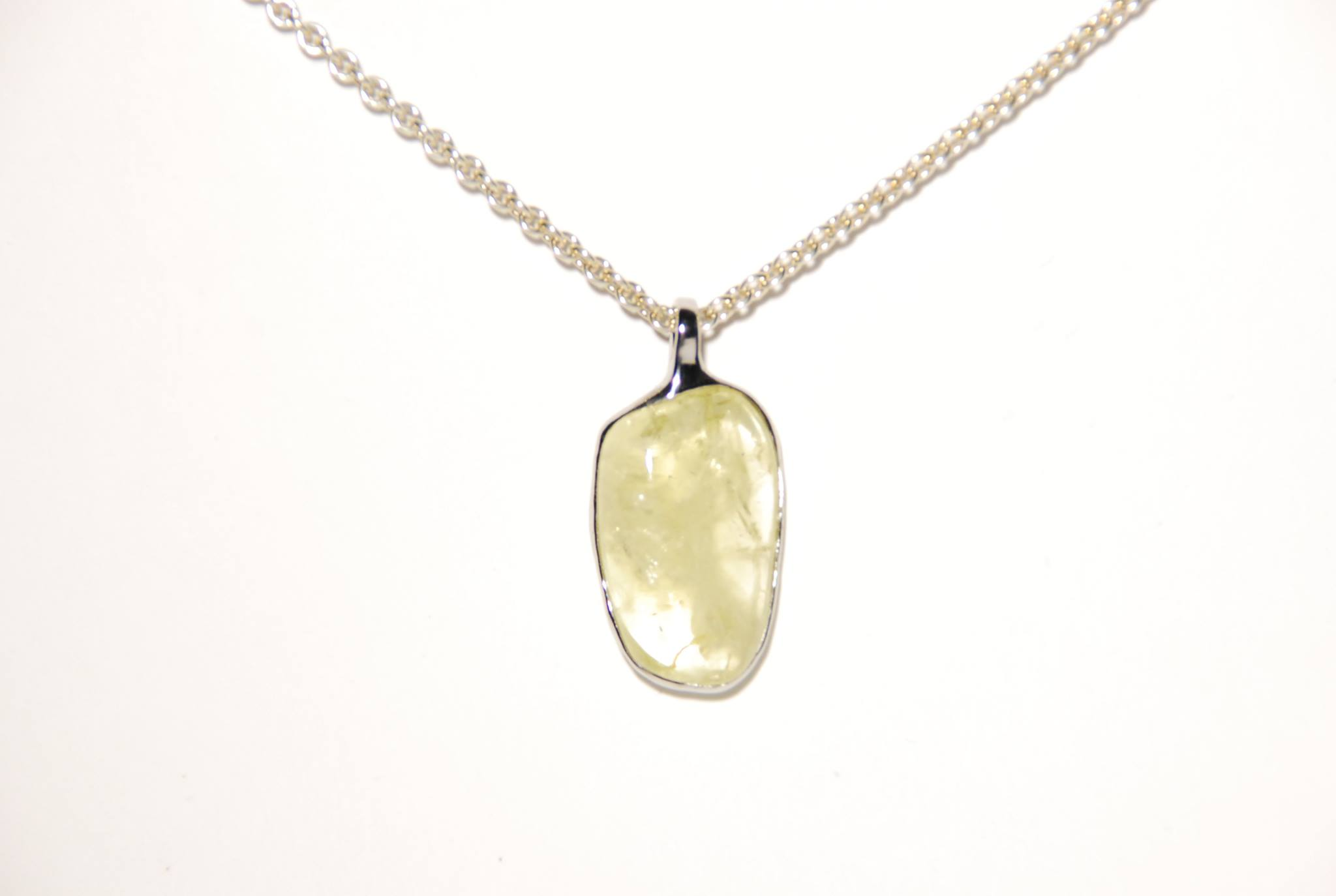 lemon quarz (lemonquarz, silver, stainless teel)